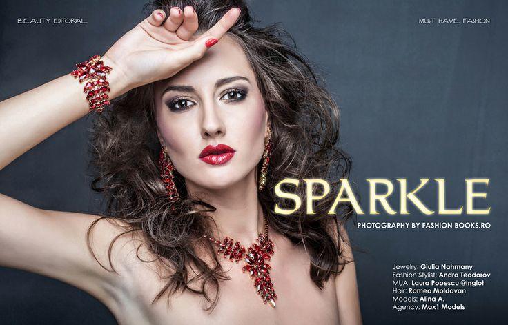 Sedinta foto Beauty in studio Constanta cu bijuterii  Model: Alina /Max1 Models Agency