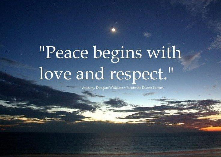 Peace And Love Quotes Awesome 13 Best Peaceloverespect Images On Pinterest  Respect Love And