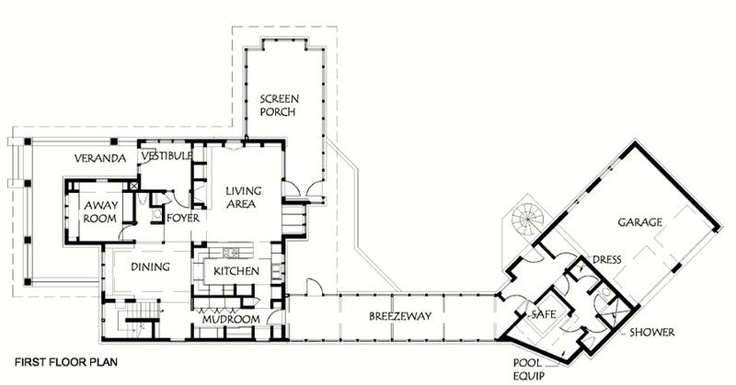 Not so big showhouse 2005 sarah susanka plans for House plans with breezeway to guest house