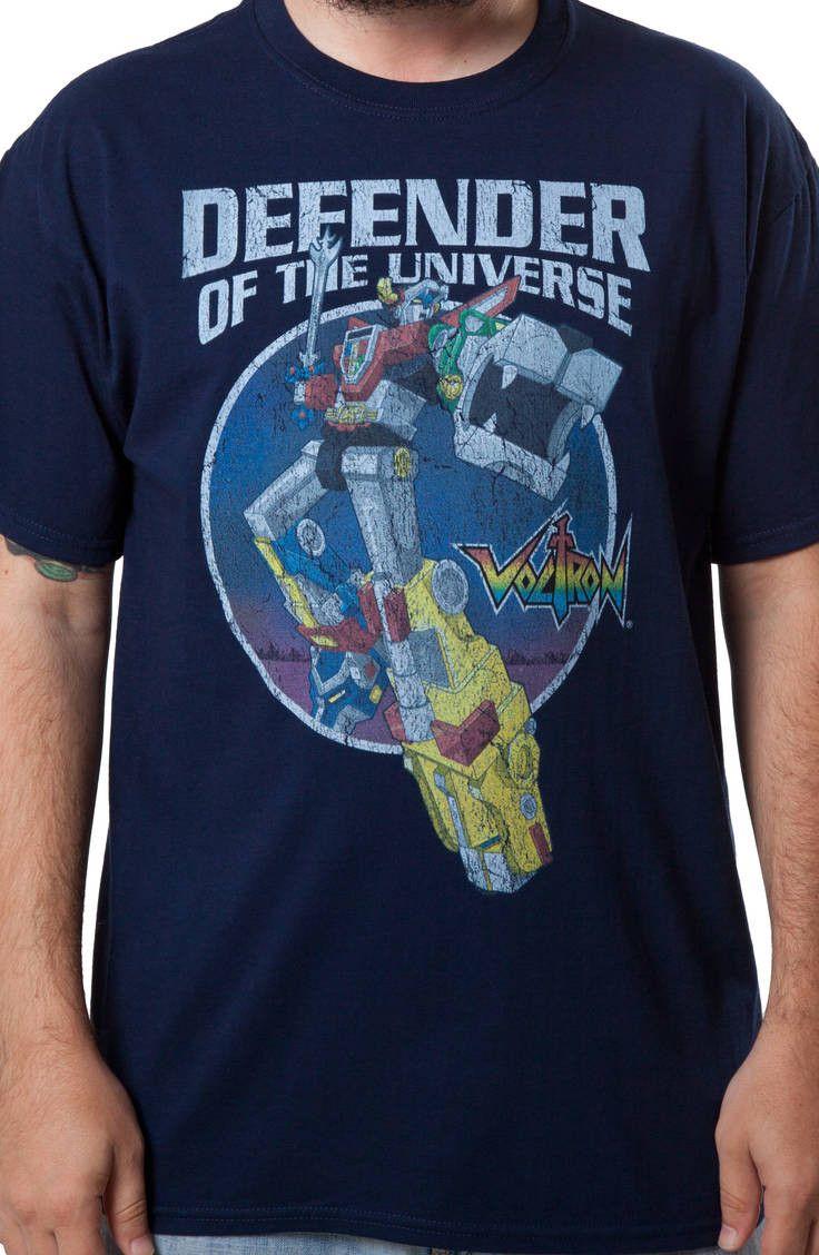 Defender of the Universe Voltron Shirt: Voltron Mens T-shirt
