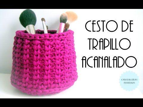 Repeat youtube Cesto de trapillo acanalado / TUTORIAL on Repeatube.com