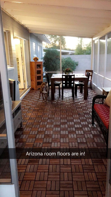 Runnen IKEA deck tiles. DIY One day makeover. Ikea deck