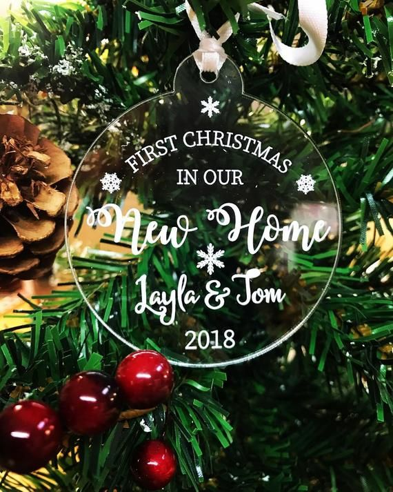 First Christmas In Our New Home Christmas Tree Bauble Etsy In 2020 Christmas Tree Baubles Personalised Christmas Tree Decorations First Christmas