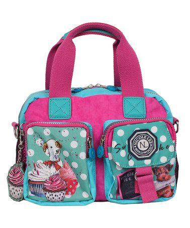 Another great find on #zulily! Mint & Pink Cupcake Dog Crinkle Satchel by Nicole Lee #zulilyfinds