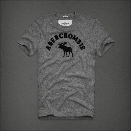 Abercrombie Fitch Short Sleeve Tee For Men - Abercrombie Gray - Blue Products- - TopBuy.com.au