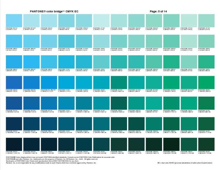 Pantone Color Bridge CMYK EC Cheat Sheets