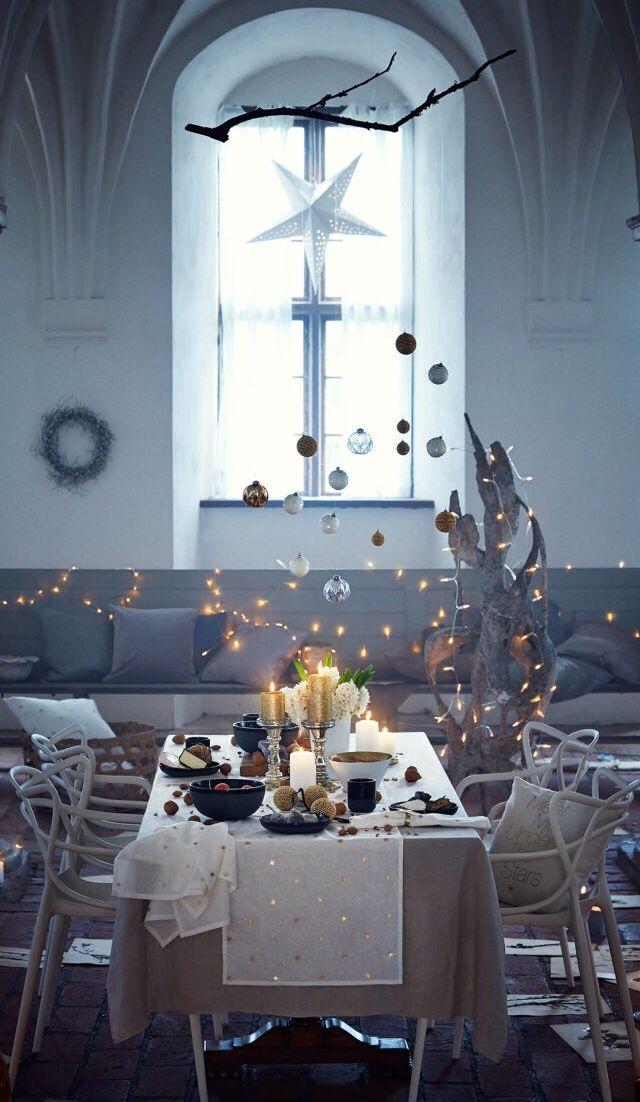 Gedekte kersttafel