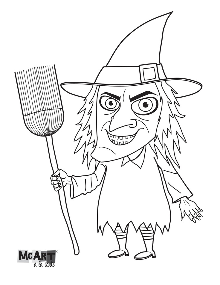 elves coloring pages images witch - photo#11