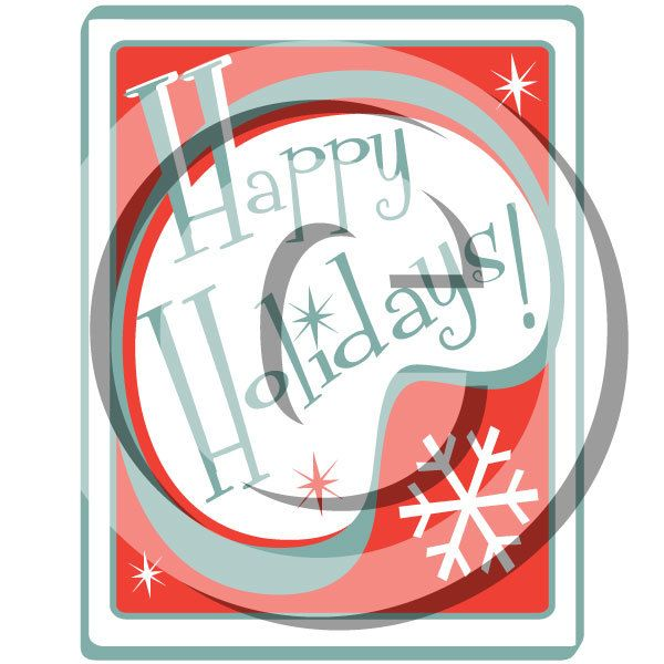 Happy Holidays Clip Art Clipart  - Personal or Commercial Use Royalty Free by steampunkartist1 on Etsy