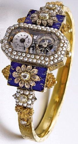 Antique jewelry watches 1830. Not exactly a Timex.