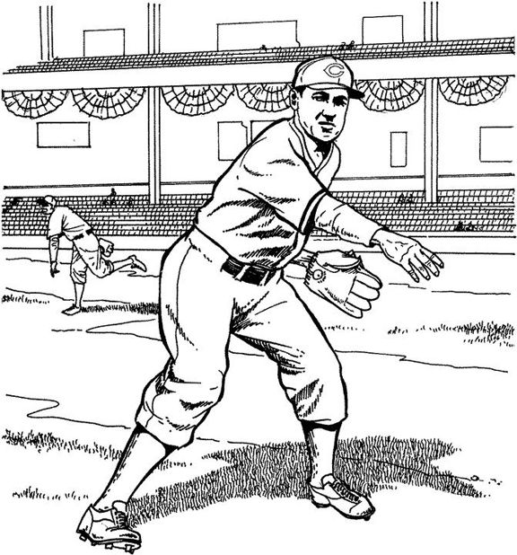 Cincinnati Reds Pitcher Baseball Coloring Page Purple Kitty Baseball Coloring Pages Cincinnati Reds Coloring Pages