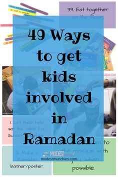 49 Ways to get kids involved in Ramadan blog