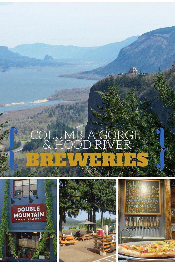 Map Of Oregon Breweries%0A Columbia Gorge  u     Hood River Breweries