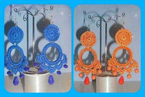 Orecchini uncinetto pendenti handmade ColoritaSplendideCreazioni