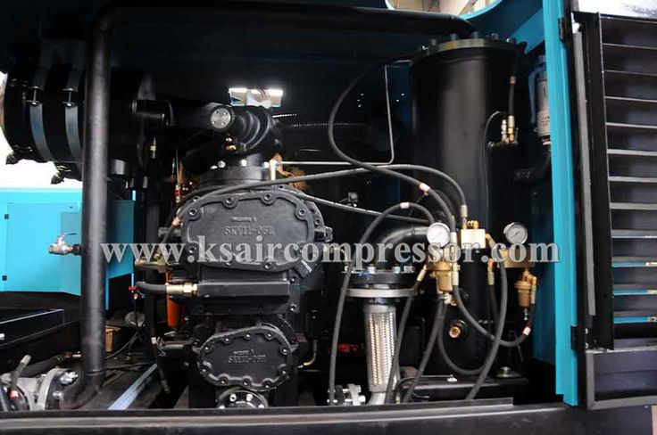 the head of the diesel powered air compressor