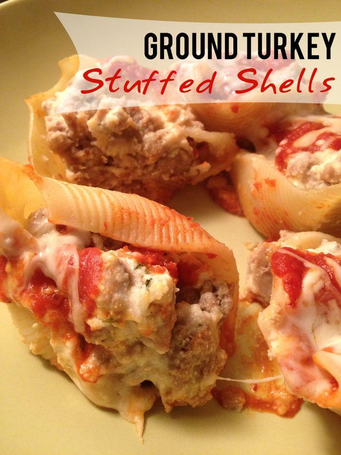 Stress Baking: Ground Turkey Stuffed Shells