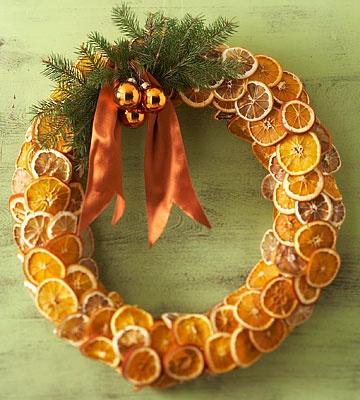 Dried Orange Wreath, -DIY Craft Autumn Wreaths, Fall Wreath. Thanksgiving Wreath