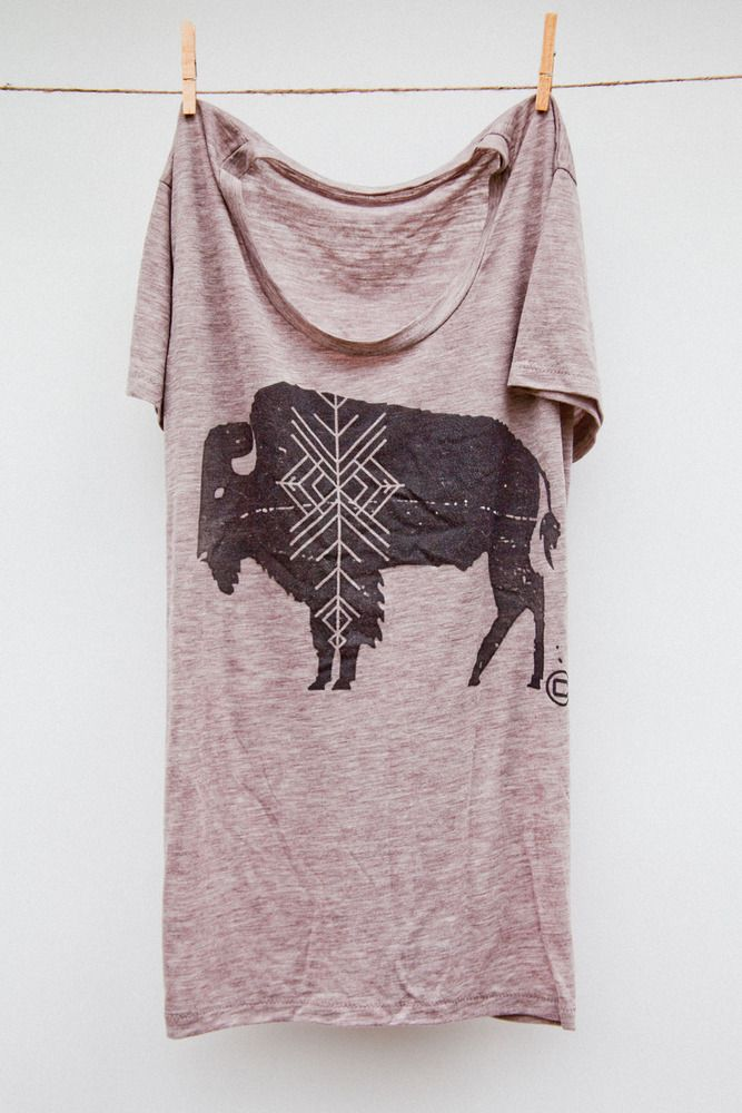 buffalo print t-shirt. I live by a herd of government-owned bison. I love watching the babies in the spring!