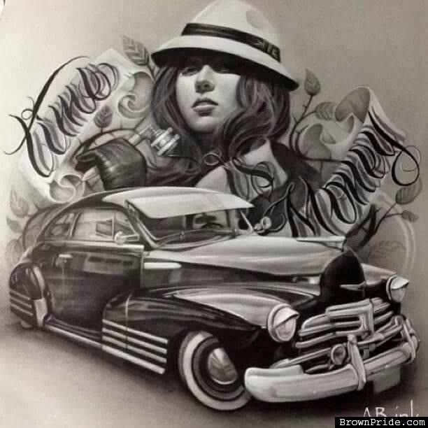 Lowrider Bomb Chicano Mexican Style Art - BrownPride.com Photo Gallery (BP)