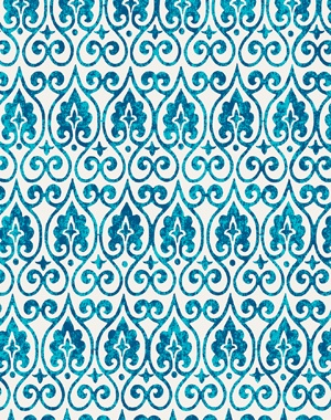 "- Horizontal motif Moroccan-style. - Linen. 44"" wide. - Repeat : 5.85"" w. x 8.4""h. - Printed in USA. - Available in a maximum of 5 yard length pieces. Kindly allow 7-10 business days for delivery."