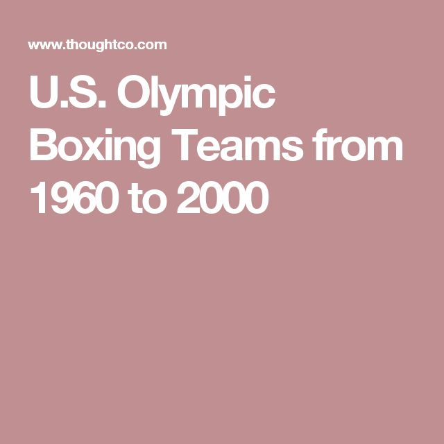 U.S. Olympic Boxing Teams from 1960 to 2000