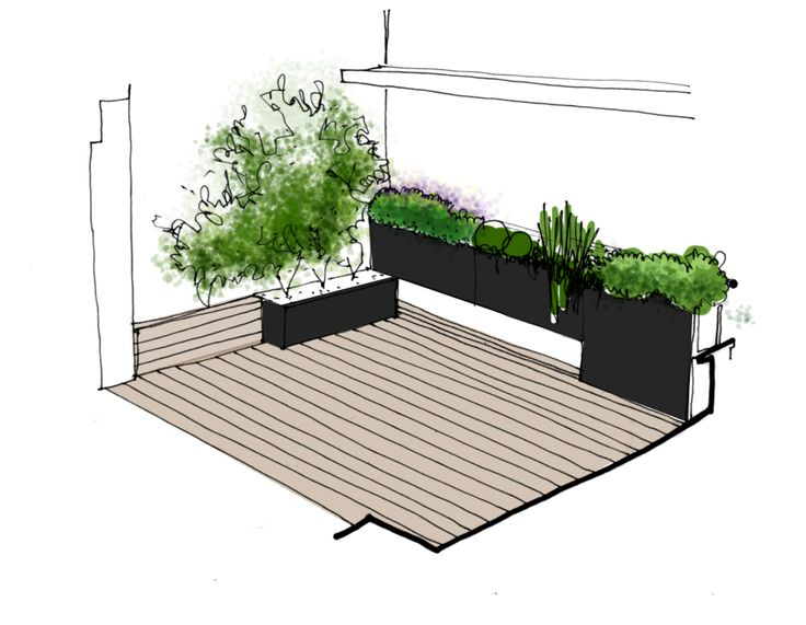 Proyecto para jard n en terraza paisajismo dise o - Diseno de terrazas y jardines ...