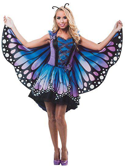 ba0e42e2c4d00b BRANDSSELLER Damen Kostüm Verkleidung für Karneval Fasching Halloween  Parties - Schmetterling, S/M karneval