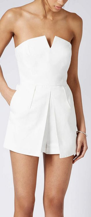 Love this clean White look! Would like it more with a Tulip-shaped skirt. I would wear this with a Nude heel or an edgy bootie.