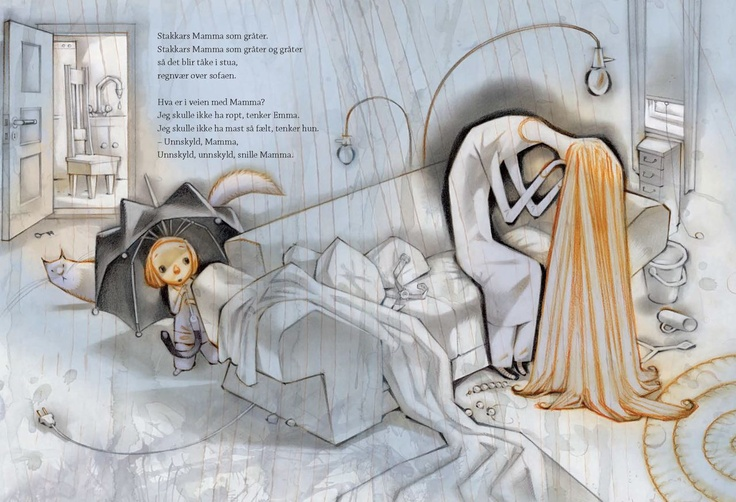 I love this one... another illustration by Nyhus - with words that will hit every mothers heart like a brick