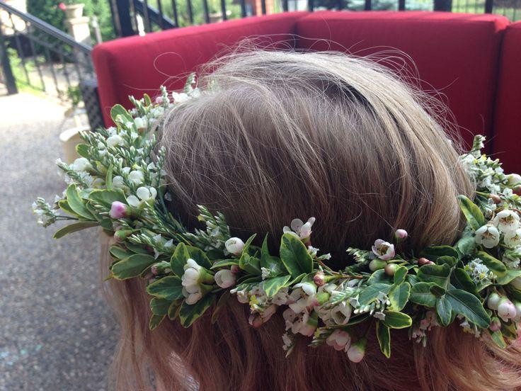 Custom designed head wreath