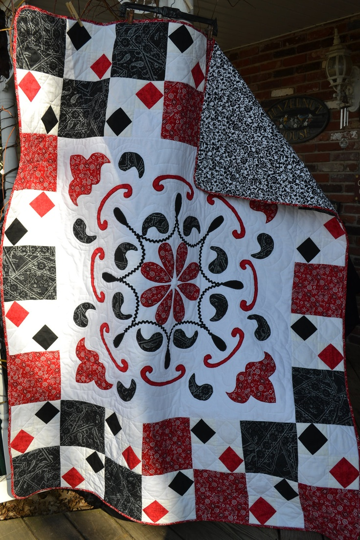 54 best Red and black quilts images on Pinterest | Knitting ... : black quilts for sale - Adamdwight.com