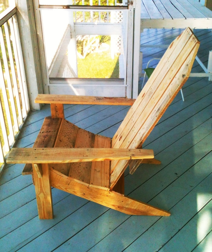 Do It Yourself Home Design: Adirondack Chair Made From 100 Recycled Pallet By