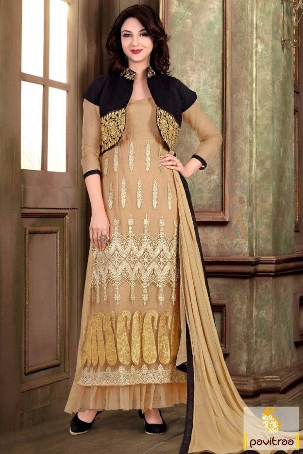 Exclusive Beige Indian Actress Saumya Tandon Suit #salwarsuit, #designerdress more: http://www.pavitraa.in/catalogs/actress-saumya-tandon-designer-salwar-kameez-online/?utm_source=rn&utm_medium=pinterestpost&utm_campaign=25jun