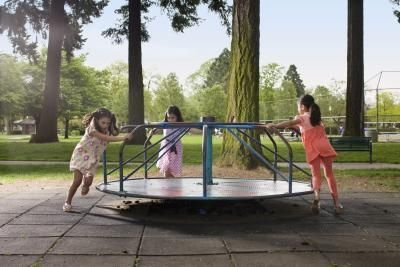 How to make a backyard merry-go-round.