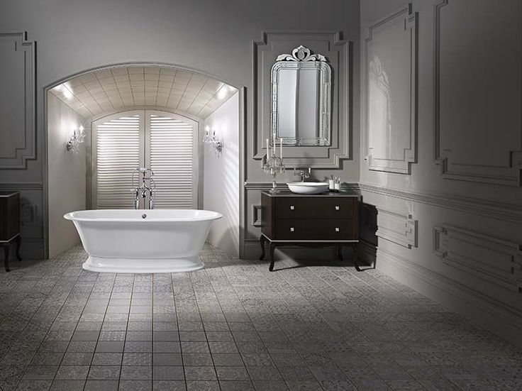 The Elwick freestanding bath in situ with the Radford 51 basin and Staffordshire basin mixer. The ultimate New Traditional items for your bathroom. Generous and symmetrical, the Elwick is beautiful, comfortable and practical!
