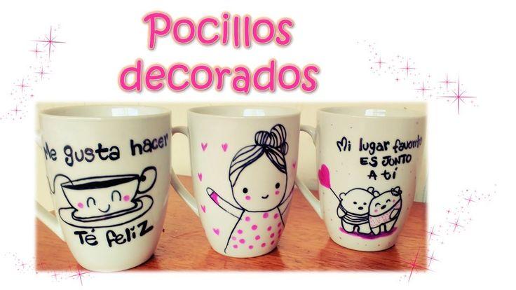 Decoración pocillos  Mugs - personalizado -DIY MANUALIDADES