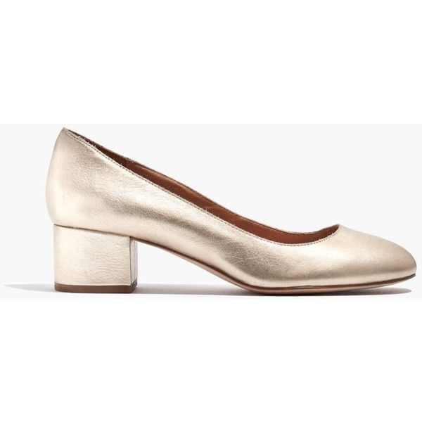 MADEWELL The Ella Pump in Metallic ($128) ❤ liked on Polyvore featuring  shoes,