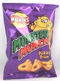 Monster Munch - nothing like a pickled onion flavored snack!