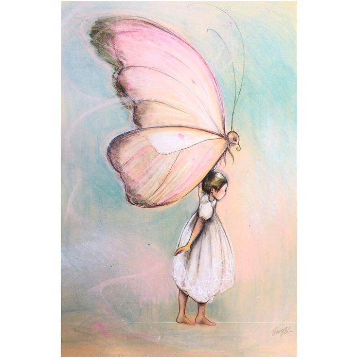 """""""Veiviser"""" © pastell-tegning solgt"""