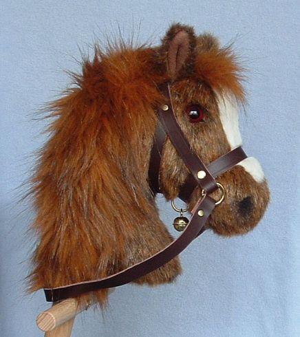 Bright chestnut hobby horse.
