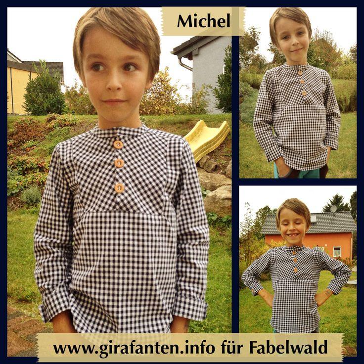 kariertes MICHEL-Hemd mit Holzknöpfen