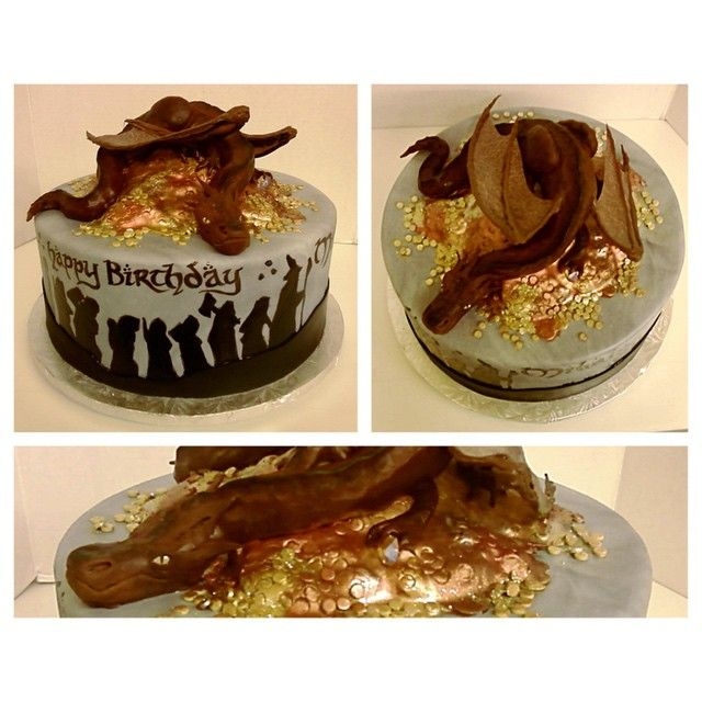 Smaug, the Hobbit, cake