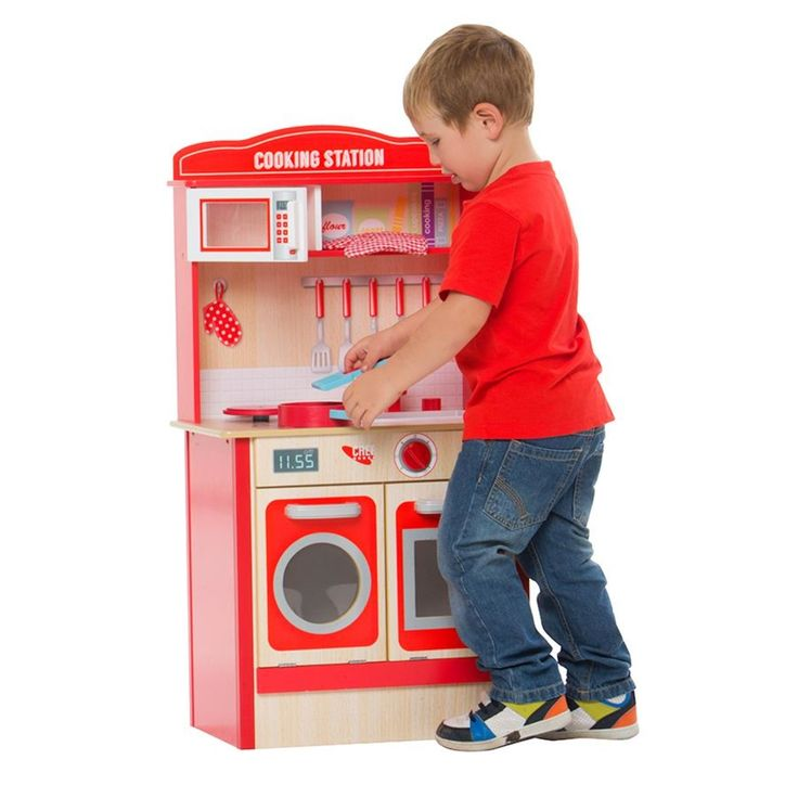 For the cubby. Wooden Play Kitchen | Kmart