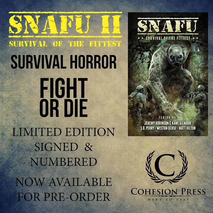 GIF ad for SNAFU: Survival of the Fittest