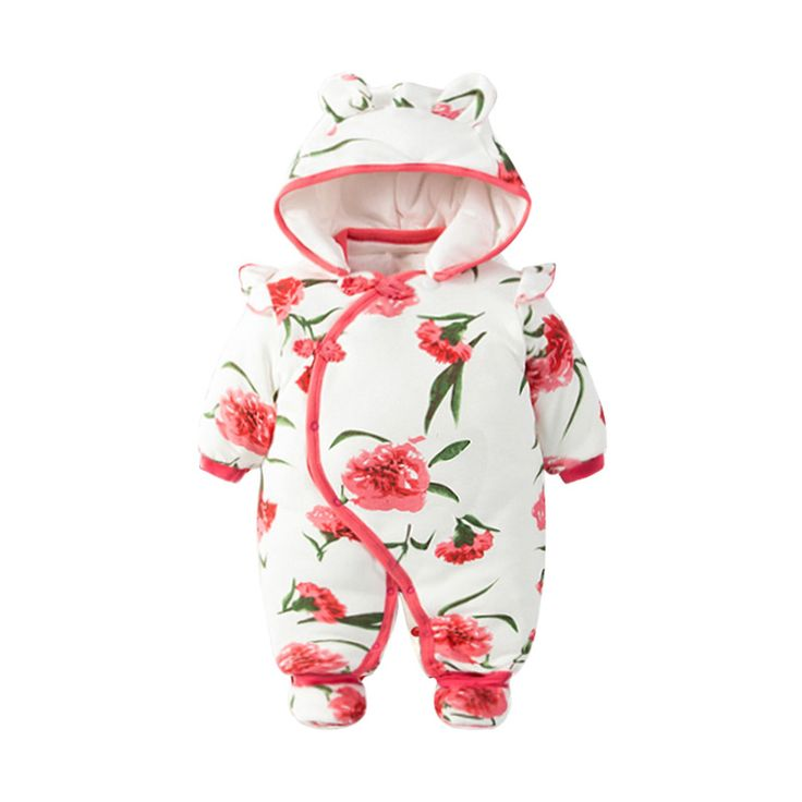 Victory! Check out my new Sweet Ruffled Floral Hooded Cotton Jumpsuit for Babies, snagged at a crazy discounted price with the PatPat app.