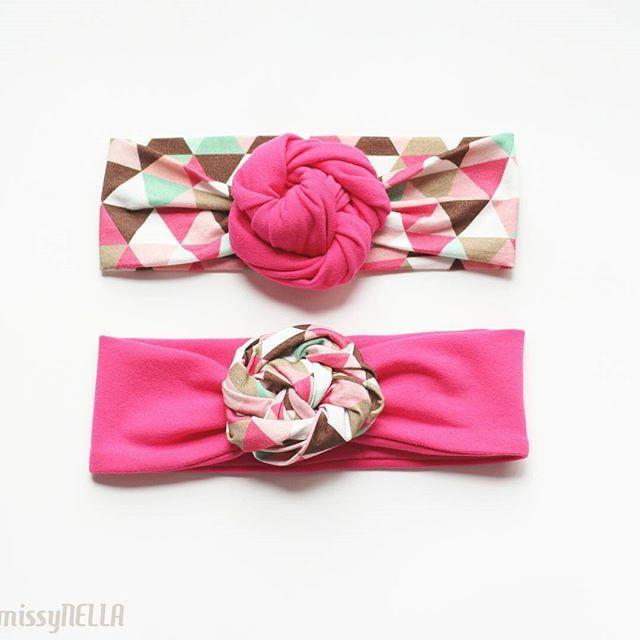 Rosa trójkąty  #new #Rosa #opaska #headband #wiosna #spring #missynella #handmade