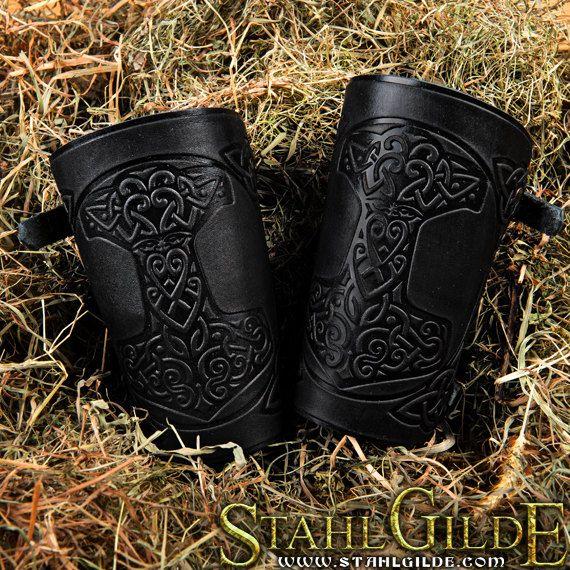 SOLDES 20 marteau Mjolnir Vikings Talisman par StahlgildeLeather