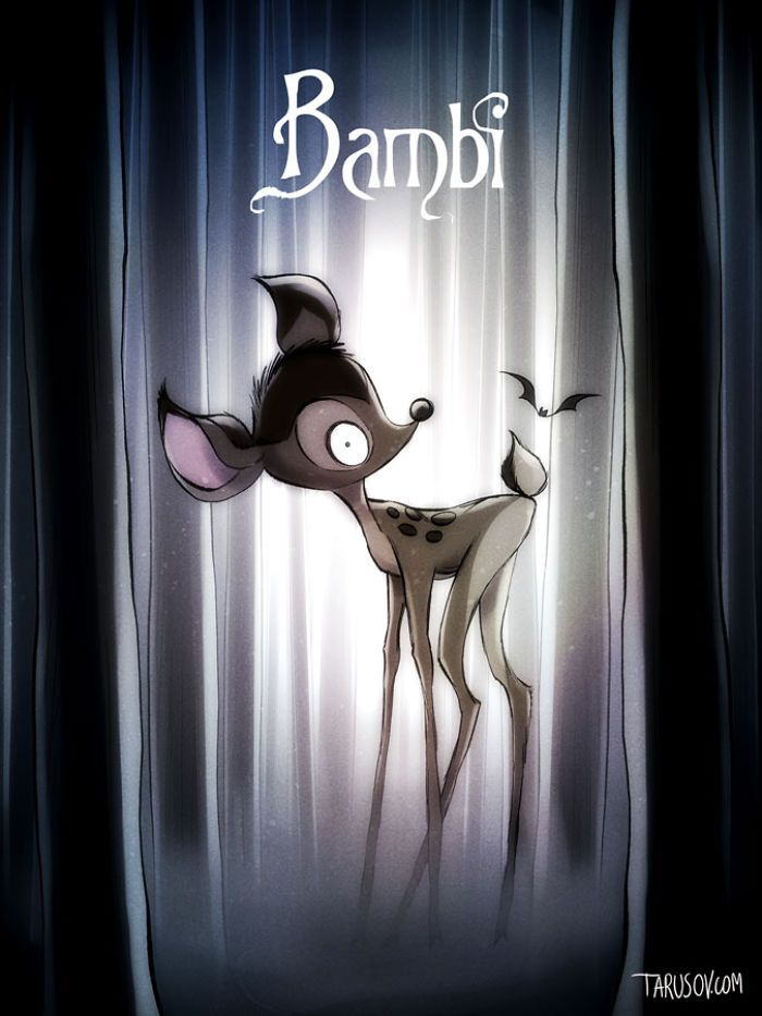 Bambi,  if Tim Burton directed Disney Movies