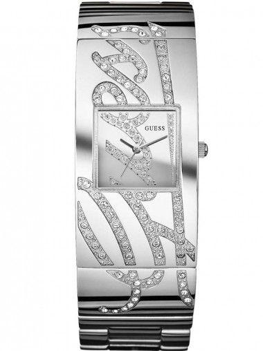 Guess Ladies Stainless Steel Stone Set Bracelet Watch W12063L1