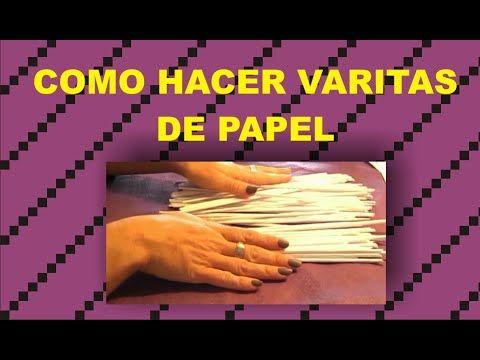 ANGEL CON VARITAS DE PAPEL - YouTube